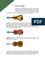 Los Instrumentos de Cuerda Viento y Percusion