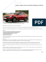 Renault Logan _copia_ Sandero e Ganha Versão Aventureira Stepway Na Rússia - Economia - BOL Notícias