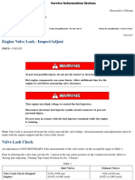 Engine Valve Lash - Inspect_Adjust c9