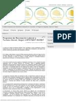 Programa de Recreación Laboral y Turismo Social, Según LOPCYMAT-InCRET