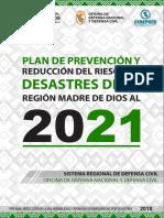 5170 Plan de Prevencion y Reduccion de Riesgos de Desastres de La Region Madre de Dios Al 2021