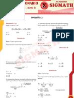 Solucionario Matematica UNASAM 2009 - II