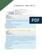 Investigación Operativa II – PRACTICA 2 WCC UNIV. TELESUP ING.SISTEMAS VI CICLO