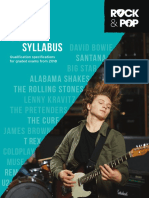 Trinity R&P Guitar Syllabus From 2018