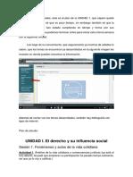 Información de Actividades Unidad i