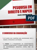 Pesquisa Em Direito e Napcd