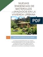 Nuevas Tendencias de Materiales Avanzados en La Vivienda Urbana Una