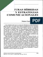 Cultura Hibridas, Nestor García Canclini