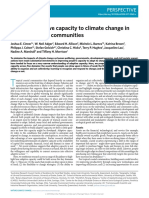 Building adaptive capacity to climate change in tropical coastal communities