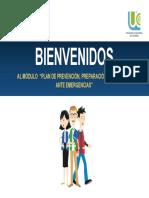 Modulo. Plan de Prevención, Preparación y Respuesta Ante Emergencias