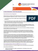 Factsheet Resource Taxation