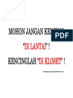 MOHON JANGAN KENCING