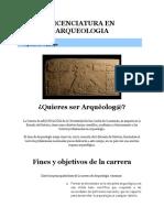 Pensum Licenciatura en Arqueologia