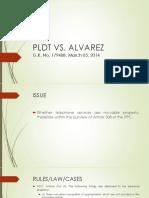 PLDT vs Alvarez