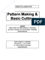 Revised Syllabus Pattern Cutting