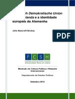 CDU e a Identidade Europeia Da Alemanha, JohnHinchey
