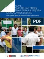 Plan Anual de Trabajo de Las Redes Educativas Para La Mejora de Los Aprendizajes