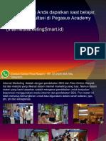 Pembicara Seminar Entrepreneurship Contact Center/ Fast Respon