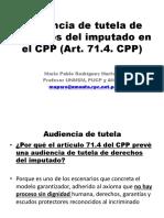 AUDIENCIA DE TUTELA DE DERECHOS DEL IMPUTADO EN EL NUEVO CÓDIGO PROCESAL PENAL