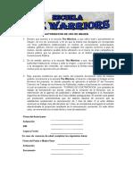 Autorizacion Uso Imagen deportes de contacto
