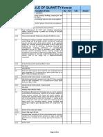 Schedule Quantity Format