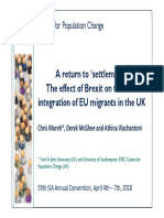 The Effect of Brexit on the Civic Integration of EU Migrants in the UK