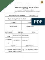 Informe Final 4 - Ley de Ohm