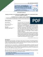 PHARMACOGNOSTIC EVALUATION OF GLYCYRRHIZA GLABRA LINN (YASHTIMADHU) FROM RAW DRUG MARKETS OF KERALA.