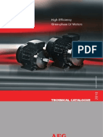 Catalogue High Efficiency Three-phase Motors AEG 1017-10 AEG Cover