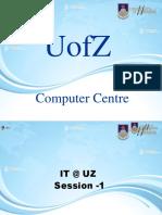 UofzIT Introduction