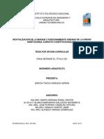 Revitalización de La Imagén y Funcionamiento Urbano de La Unidad Habitacional Ejército Constitucionalista
