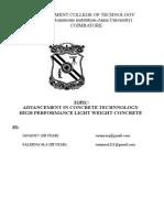 Advancement in Concrete Technnology