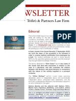 Newsletter T&P N°40 Eng