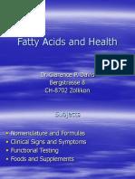 Fatty Acids and Health