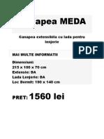 Canapea Meda