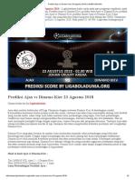 Prediksi Ajax vs Dinamo Kiev 23 Agustus 2018