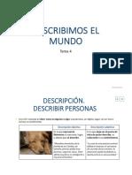 Tema 4_Describimos El Mundo_ Lengua 1º ESO