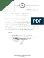 Plan de masuri privind aplicarea Regulamentului privind siguranta locurilor de detinere