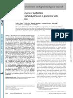 Metabolic Precursors of Surfactant