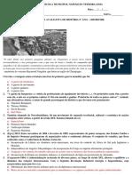 Avaliação de História Imperialismo, Primeira Guerra e Revolução Russa - Gabarito.docx