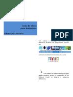 Lista de Obras de Educação Literária - 1º ciclo