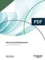 Journal Citation Reports JCR Full List Journals 2018 2