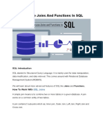 How To Use Joins And Functions In SQL