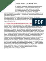 'La Herida Primaria Del Niño Interior' Por Roberto Pérez