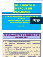a12 Planejamento e Controle de Qualidade