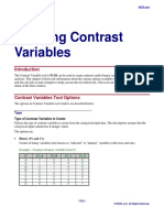 Creating Contrast Variables