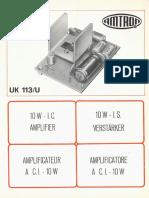 Amtron UK113U - Amplificatore a c.i. - 10 W.pdf