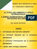 0 - La Tutela Dell'Ambiente a Livello Nazionale Ed Internazionale