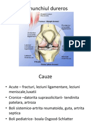 artrita de genunchi cu antecedente pediatrice