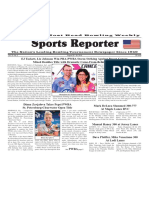 August 22 - 28, 2018  Sports Reporter